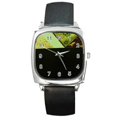 Colors And Fabrics 24 Square Metal Watch