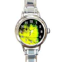 Colors And Fabrics 23 Round Italian Charm Watch