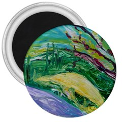Yellow Boat And Coral Tree 3  Magnets