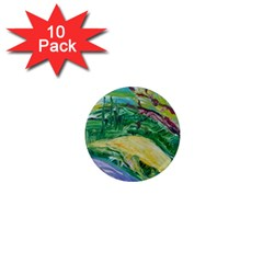Yellow Boat And Coral Tree 1  Mini Magnet (10 Pack)