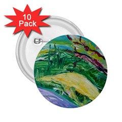 Yellow Boat And Coral Tree 2 25  Buttons (10 Pack)