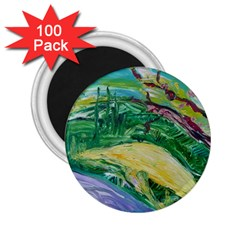 Yellow Boat And Coral Tree 2 25  Magnets (100 Pack)