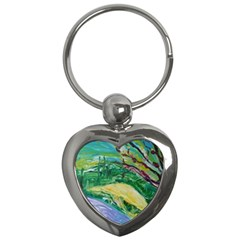 Yellow Boat And Coral Tree Key Chains (heart)