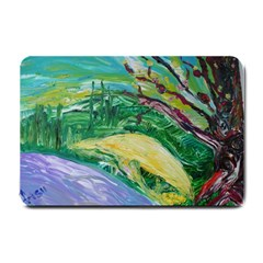Yellow Boat And Coral Tree Small Doormat
