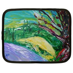 Yellow Boat And Coral Tree Netbook Case (large)