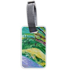 Yellow Boat And Coral Tree Luggage Tags (one Side)