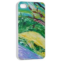 Yellow Boat And Coral Tree Apple Iphone 4/4s Seamless Case (white) by bestdesignintheworld