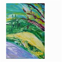 Yellow Boat And Coral Tree Small Garden Flag (two Sides)