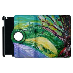 Yellow Boat And Coral Tree Apple Ipad 2 Flip 360 Case