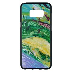 Yellow Boat And Coral Tree Samsung Galaxy S8 Plus Black Seamless Case
