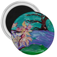 Magnolia By The River Bank 3  Magnets by bestdesignintheworld