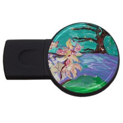 Magnolia By The River Bank Usb Flash Drive Round (2 Gb)
