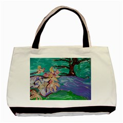 Magnolia By The River Bank Basic Tote Bag
