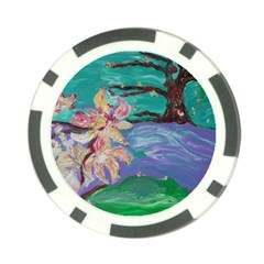 Magnolia By The River Bank Poker Chip Card Guard