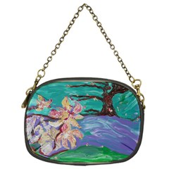 Magnolia By The River Bank Chain Purses (one Side)  by bestdesignintheworld