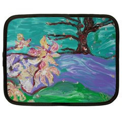 Magnolia By The River Bank Netbook Case (xl)