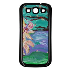 Magnolia By The River Bank Samsung Galaxy S3 Back Case (black)