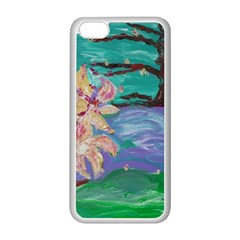 Magnolia By The River Bank Apple Iphone 5c Seamless Case (white)