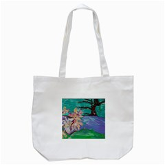 Magnolia By The River Bank Tote Bag (white)