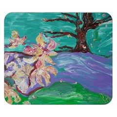 Magnolia By The River Bank Double Sided Flano Blanket (small)