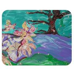 Magnolia By The River Bank Double Sided Flano Blanket (medium)