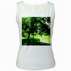 Lake Park 17 Women s White Tank Top