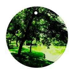 Lake Park 17 Round Ornament (two Sides)