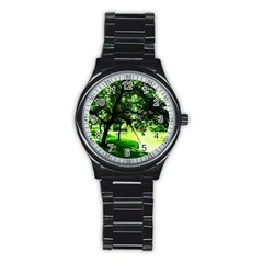 Lake Park 17 Stainless Steel Round Watch