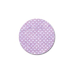 Scales2 White Marble & Purple Glitter (r) Golf Ball Marker by trendistuff