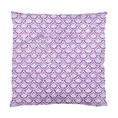 Scales2 White Marble & Purple Glitter (r) Standard Cushion Case (one Side) by trendistuff