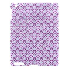 Scales2 White Marble & Purple Glitter (r) Apple Ipad 3/4 Hardshell Case