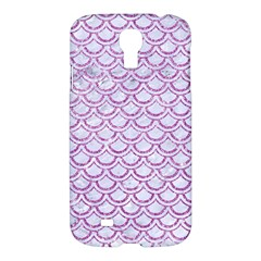 Scales2 White Marble & Purple Glitter (r) Samsung Galaxy S4 I9500/i9505 Hardshell Case