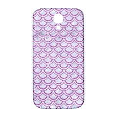 Scales2 White Marble & Purple Glitter (r) Samsung Galaxy S4 I9500/i9505  Hardshell Back Case