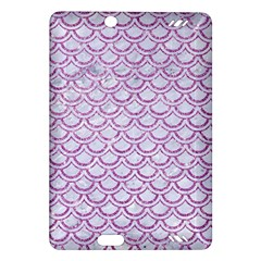 Scales2 White Marble & Purple Glitter (r) Amazon Kindle Fire Hd (2013) Hardshell Case