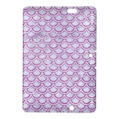 Scales2 White Marble & Purple Glitter (r) Kindle Fire Hdx 8 9  Hardshell Case
