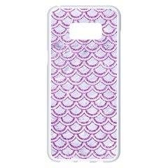 Scales2 White Marble & Purple Glitter (r) Samsung Galaxy S8 Plus White Seamless Case