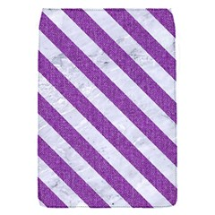 Stripes3 White Marble & Purple Denim Flap Covers (s)