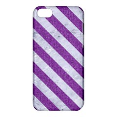 Stripes3 White Marble & Purple Denim Apple Iphone 5c Hardshell Case