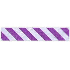 Stripes3 White Marble & Purple Denim Large Flano Scarf