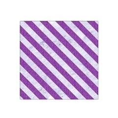 Stripes3 White Marble & Purple Denim Satin Bandana Scarf by trendistuff