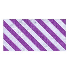 Stripes3 White Marble & Purple Denim Satin Shawl