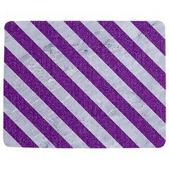 Stripes3 White Marble & Purple Denim Jigsaw Puzzle Photo Stand (rectangular)