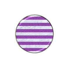 Stripes2white Marble & Purple Denim Hat Clip Ball Marker