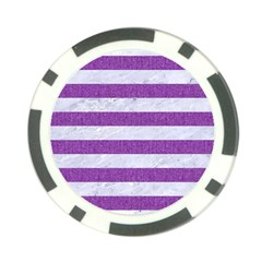Stripes2white Marble & Purple Denim Poker Chip Card Guard (10 Pack)