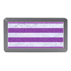 Stripes2white Marble & Purple Denim Memory Card Reader (mini)