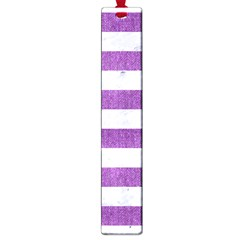 Stripes2white Marble & Purple Denim Large Book Marks