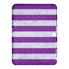 Stripes2white Marble & Purple Denim Samsung Galaxy Tab 4 (10 1 ) Hardshell Case