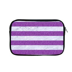 Stripes2white Marble & Purple Denim Apple Macbook Pro 13  Zipper Case