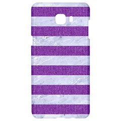 Stripes2white Marble & Purple Denim Samsung C9 Pro Hardshell Case