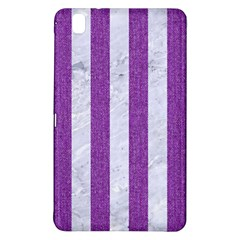 Stripes1 White Marble & Purple Denim Samsung Galaxy Tab Pro 8 4 Hardshell Case